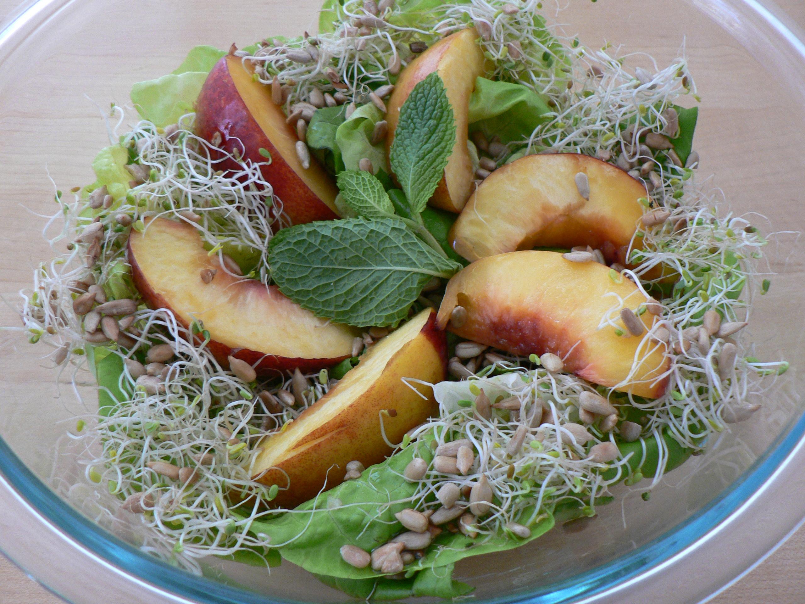 Stellar Vegan Salad with Roasted Nectarines