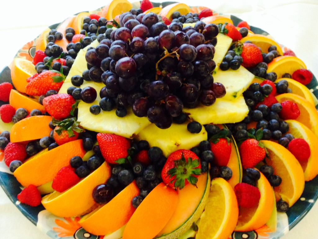 fresh fruit for breakfast, always my favorite